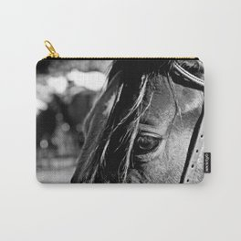 Horse-1-B&W Carry-All Pouch