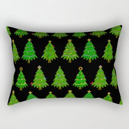 Christmas Tree Festival Rectangular Pillow