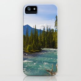 Maligne River & Pyramid Mountain in Jasper National Park, Canada iPhone Case