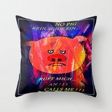 PIG - PHONE . Throw Pillow