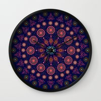 nordic Wall Clocks featuring Nordic Star by RED ROAD STUDIO