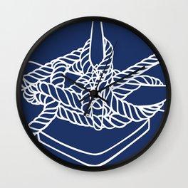Knotical (NAVY) Wall Clock