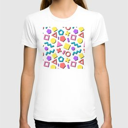 Playful Toy Box Potpourri of Colorful Shapes Pattern T-shirt