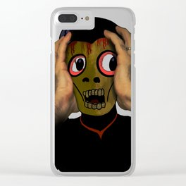Holding the Skull Together Clear iPhone Case