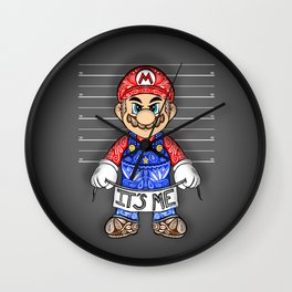 It's ME, Evil Mario !  Wall Clock