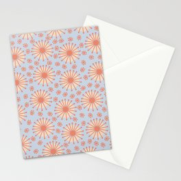 Carousel Blue Retro Stationery Cards