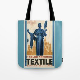 1938 Art deco Textile Expo Brussels Tote Bag