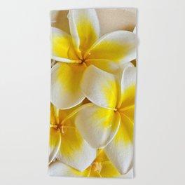 Plumeria Blossoms Beach Towel