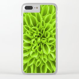 Green Spring Star Clear iPhone Case
