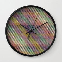 joanne plaid Wall Clock