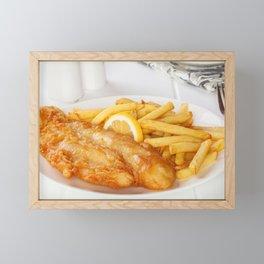 Fish and Chips Framed Mini Art Print