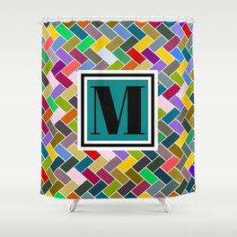 M Monogram Shower Curtain