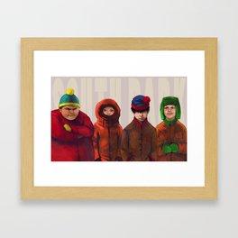 South Park Framed Art Print