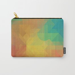 Geometric Pattern // Intricate Detailed Shapes // Gradient Colors (Orange, Yellow, Teal, Green, Red) Carry-All Pouch