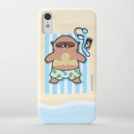 Mochi the pug sunbathing iPhone Case