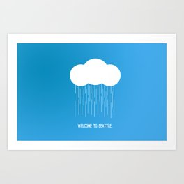 Simplistic Seattle  Art Print