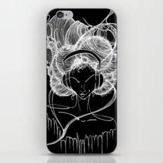 Black and White Headphones iPhone & iPod Skin