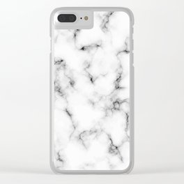 White marble texture no. 4 Clear iPhone Case