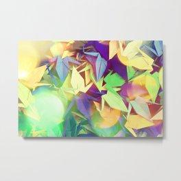 Senbazuru | purples n greens Metal Print