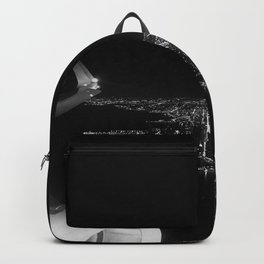 Chicago Skyline. Airplane. View From Plane. Chicago Nighttime. City Skyline. Jodilynpaintings Backpack