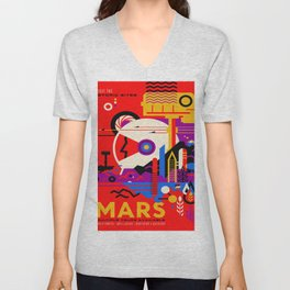 Vintage poster - Mars Unisex V-Neck