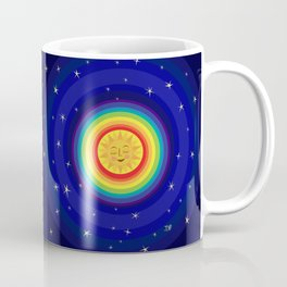 Sun, Rainbow, and Stars Coffee Mug