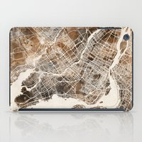 montreal iPad Cases featuring Montreal by Map Map Maps