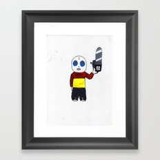 MOM I'M HOME! Framed Art Print