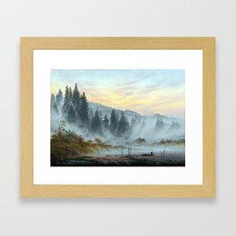 Caspar David Friedrich The Times of the Day, Morning Framed Art Print