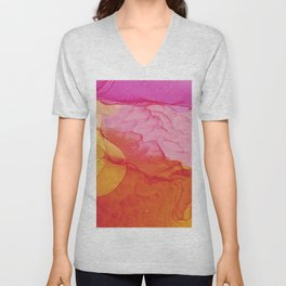 Abstract explosion Unisex V-Neck