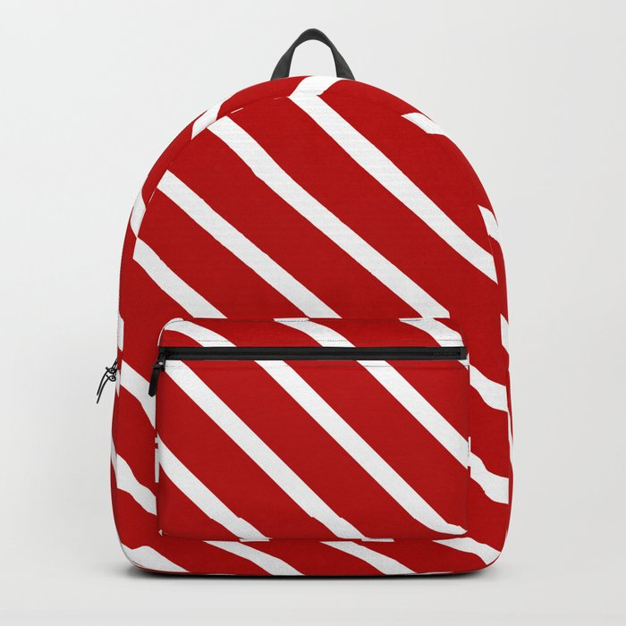 Chilli Diagonal Stripes Backpack