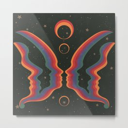 Rainbow Butterfly People Metal Print