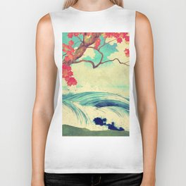 Waking to the Wild and Beautiful Ocean of Dhin Biker Tank