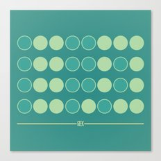 Geek in Binary Canvas Print