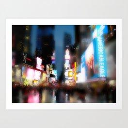 A wet Times Square (NY) Art Print