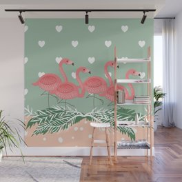 Heart flaming Wall Mural