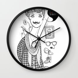 Kikoo! Wall Clock