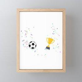 6 Jahre alt Fußball Profi Geburtstags Framed Mini Art Print