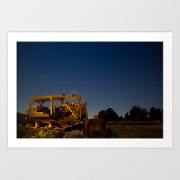 Portrait of a Dozer Art Print