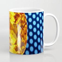 SPARKLING GOLDEN MADEIRA TOPAZ GEM BLUE PATTERN Coffee Mug