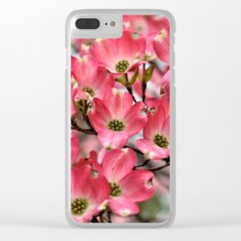 Stunning Pink Dogwood Blooms Clear iPhone Case