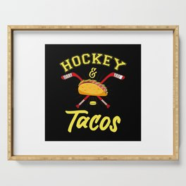 Hockey And Tacos - US American Sports Gift Serving Tray