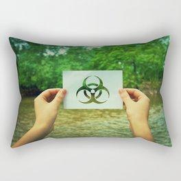 holding infection symbol Rectangular Pillow
