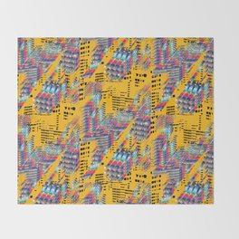 Fragmented Worlds IV Throw Blanket