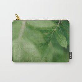Spring life - Beautiful green rowan leaves in macro image Carry-All Pouch