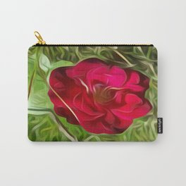 Evelyn's Red Rose Carry-All Pouch