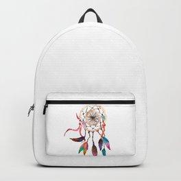 Native American Boho Vibrant Watercolor Beaded Dreamcatcher Backpack