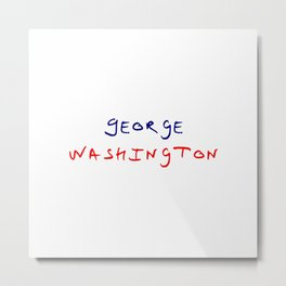 Great american 7 George Washington Metal Print