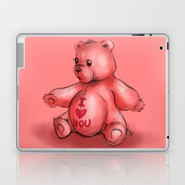 Pink Teddy Bear Laptop & iPad Skin