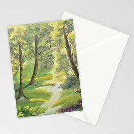 Happy sunny forest Stationery Cards